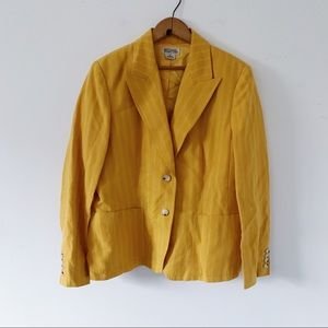 Michael Kors Golden Yellow Pinstripe Blazer